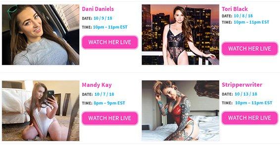 Cam Show Schedule